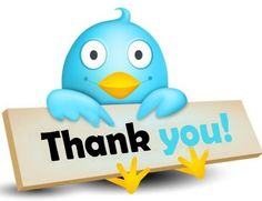 Thank you tweet
