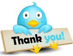 Thank you tweet